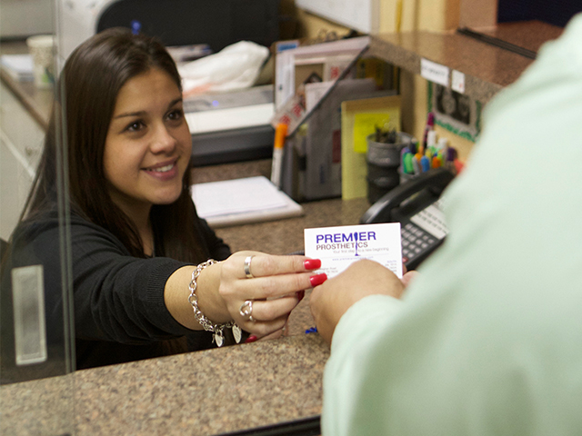 Premier Prosthetics front desk in San Antonio, Texas