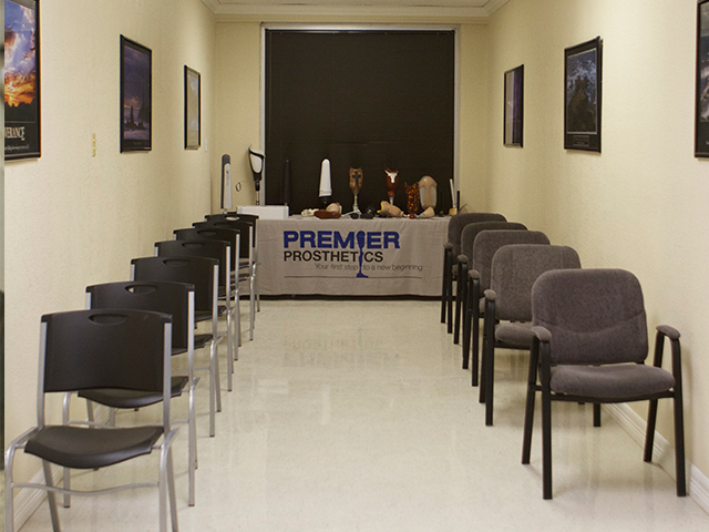 Prosthetic training room in San Antonio